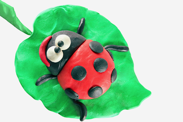 Bug Crafts - Clay Ladybug Craft