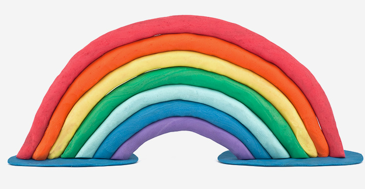 Rainbow Crafts For Kids - Clay Rainbow