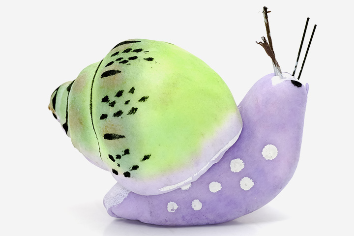 Bug Crafts - Clay Snail Craft