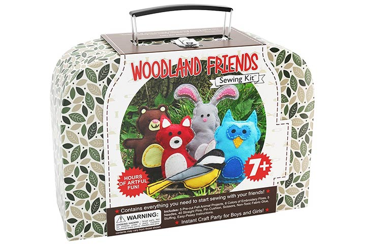 Craftsters Sewing Kits Woodland Animals Craft Educational Sewing Kit
