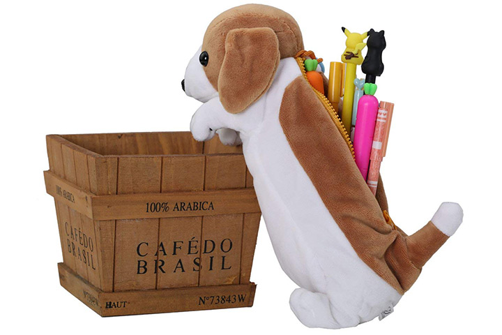 Cute Cartoon Puppy Pen Bag
