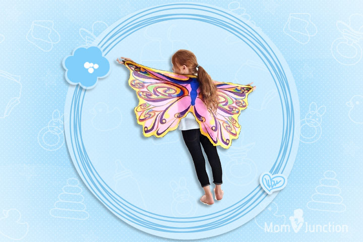 Toys For 6 Year Old Girls -Dreamy Dress-Ups Rainbow Fairy Wings