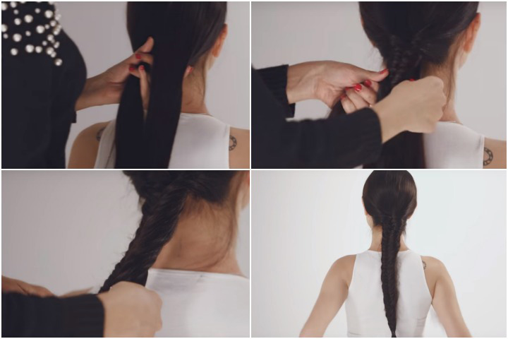 Cute Hairstyles For Black Teenager - Fishtail Cornrows