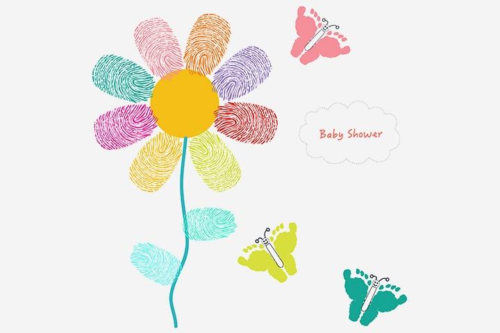 Bug Crafts - Footprint Butterfly Craft
