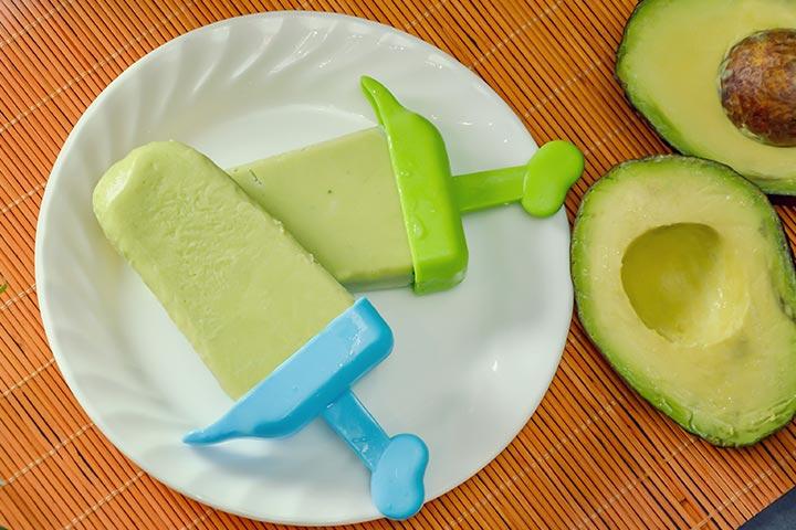 Frozen avocado cubes