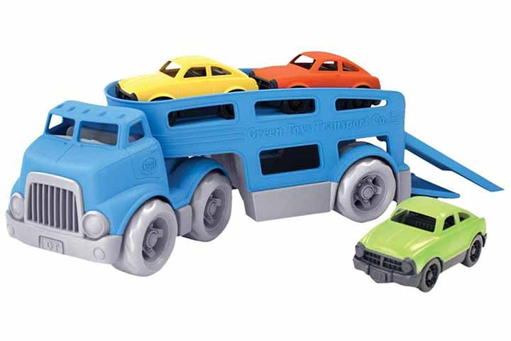 Green Toys Car Carrier Vehicle Set Toy