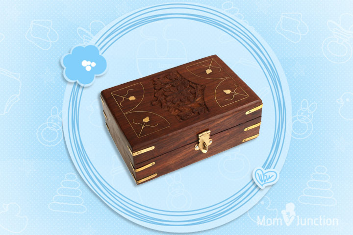Mother's Day Gifts - Hand Carved Rosewood Trinket Storage Box