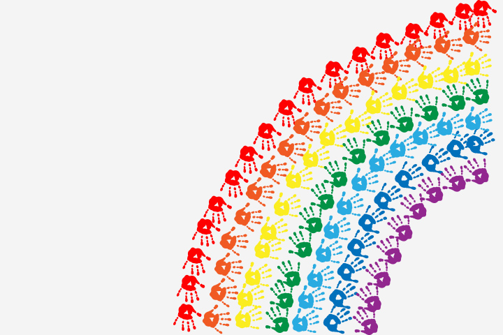 Rainbow Crafts For Kids - Handprint Rainbow