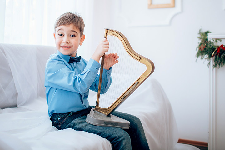 Musical Instruments For Kids - Harp