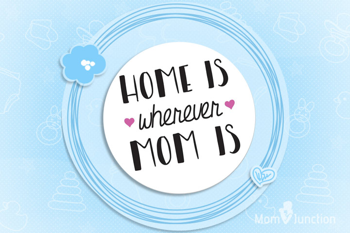 Mother's Day Gifts - Home Is Wherever Mom Is Fridge Magnet