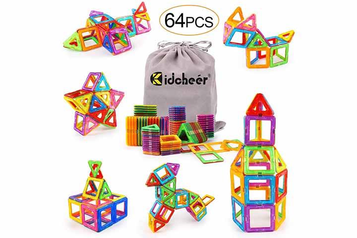 Kidcheer Magnet Building Tiles