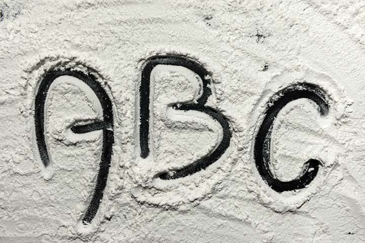 Letters on the flour