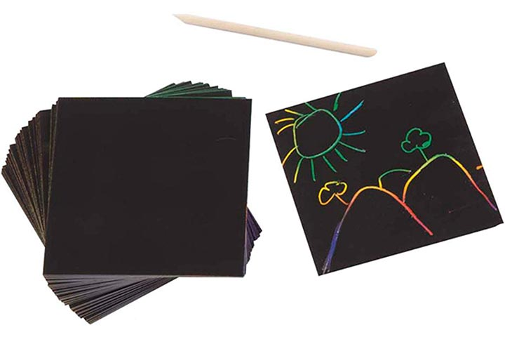 Melissa & Doug Scratch Art Box of Rainbow Mini Notes