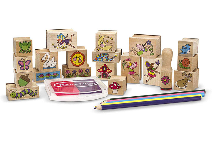 Melissa & Doug Stamp-a-Scene Wooden Stamp Set