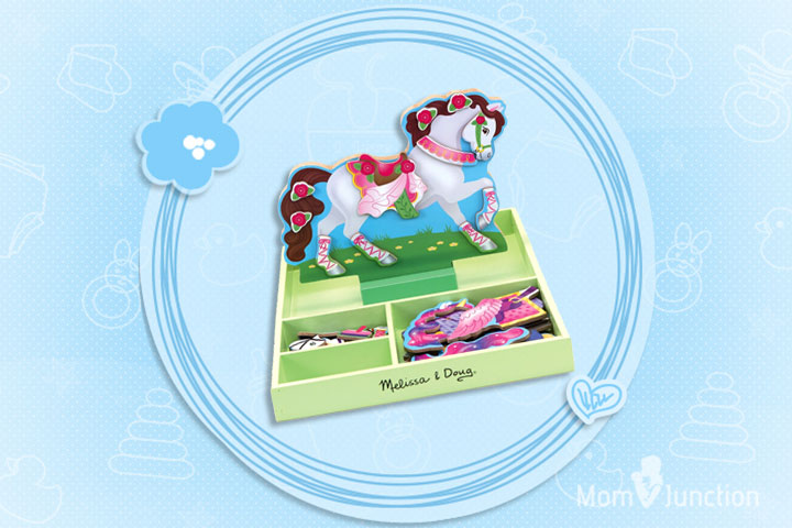 Toys For 6 Year Old Girls -My Horse Clover Magnetic Dress Up