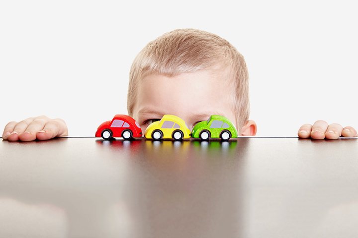 Writing Activities For Preschoolers - Name Activity Using Toy Cars