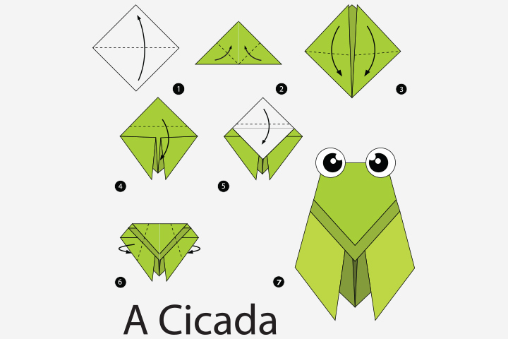 Bug Crafts - Paper Cicada Craft