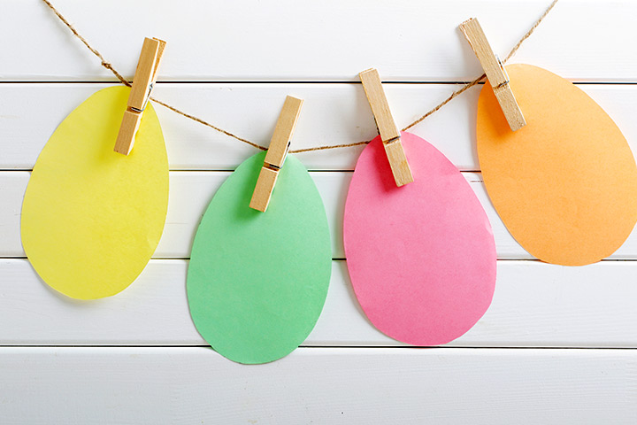 Egg Craft - Paper Easter Egg Garland Craft