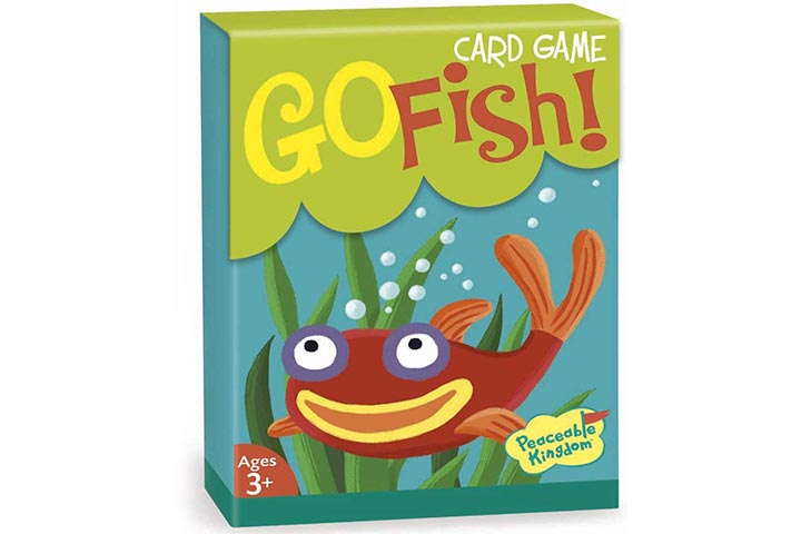 Peaceable Kingdom Go Fish! Classic Card Game for Kids