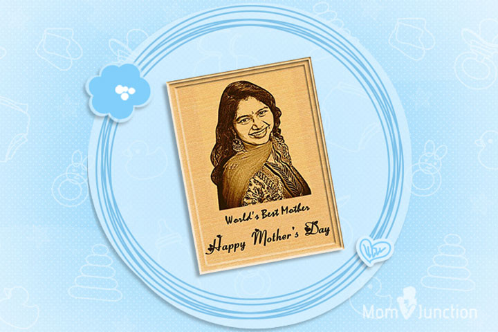 Mother's Day Gifts - Personalized Engraved Wooden Photo Plaque