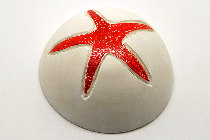 Starfish Craft - Plaster Colored Starfish Craft