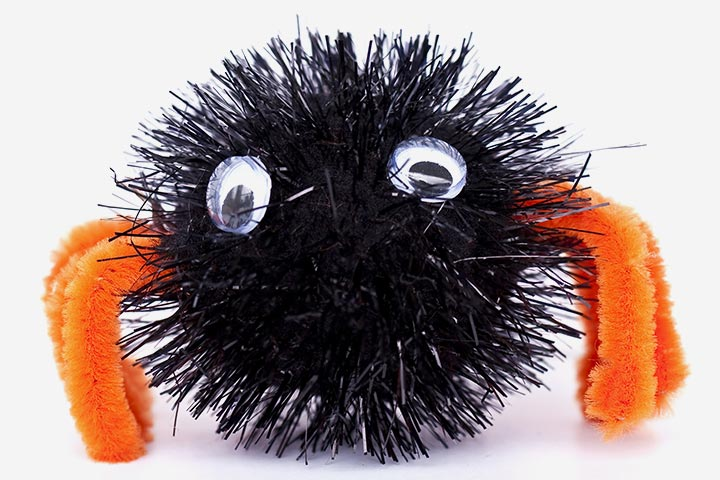 Bug Crafts - Pompom Chenille Spider Craft