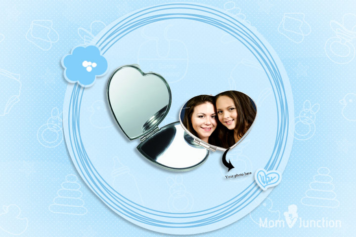 Mother's Day Gifts - Queen Of Hearts Personalized Photo Mirror