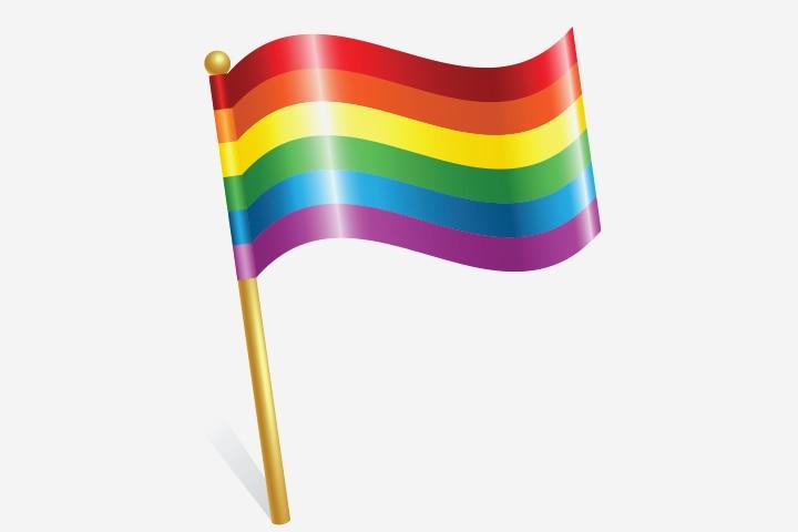 Rainbow Crafts For Kids - Rainbow Flag Craft