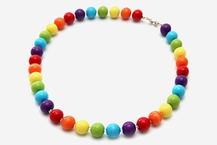 Rainbow Crafts For Kids - Rainbow Necklace Craft