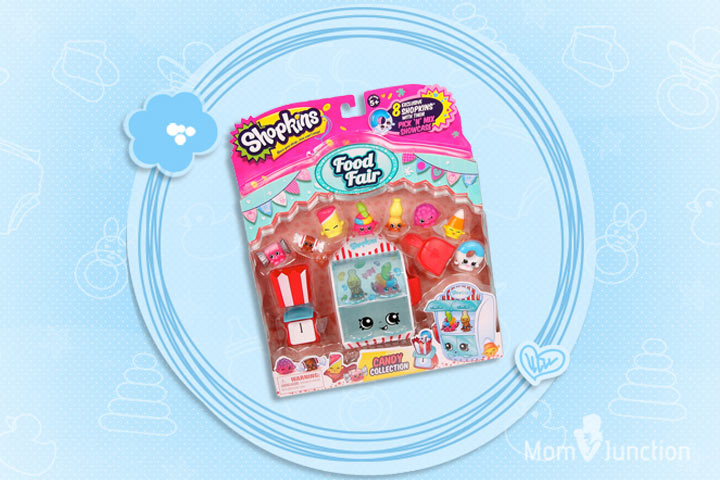 Toys For 6 Year Old Girls -Shopkins Food Fair Candy Collection