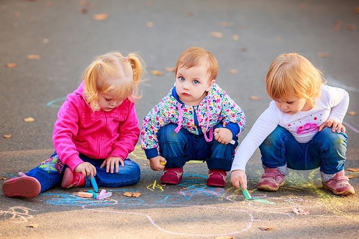 Writing Activities For Preschoolers - Sidewalk Paint