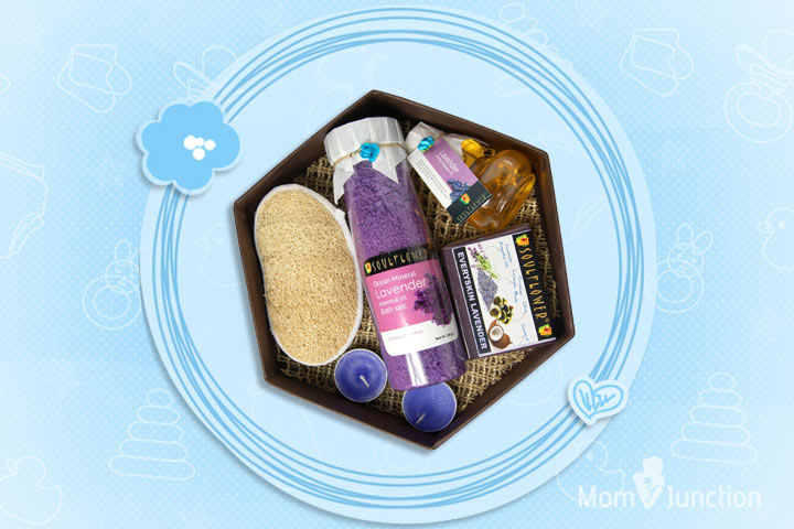 Mother's Day Gifts - Soulflower Hexagon Bath Set With Lavender