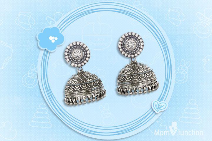 Mother's Day Gifts - Sterling Silver Jhumkis