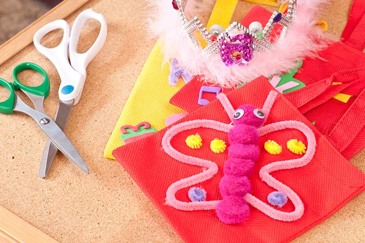 Bug Crafts - Woollen Butterfly Craft