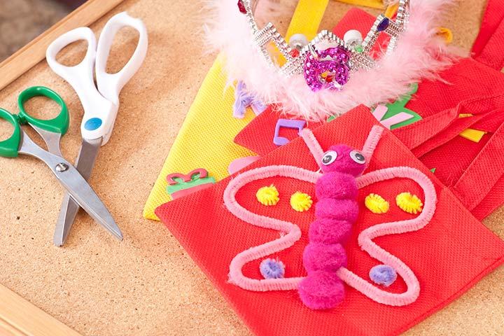 Bug Crafts - Woollen Butterfly Craft