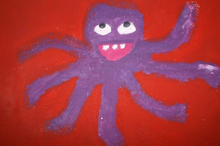 Octopus Craft - Octopus Mural Painting