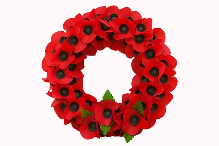 Veterans Day Crafts - Poppy Wreath