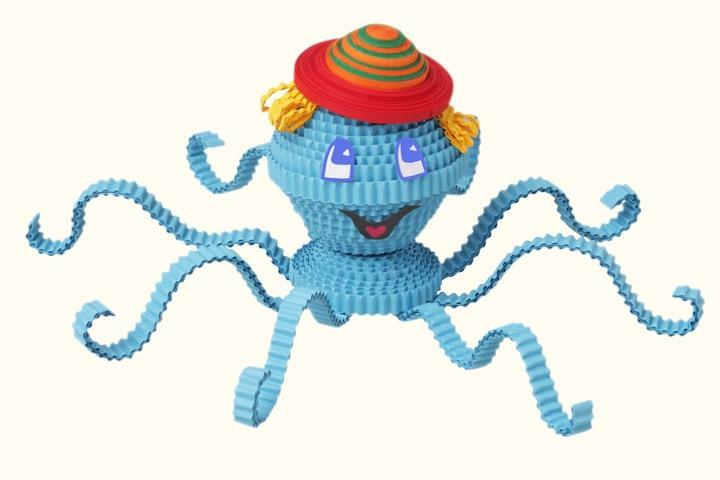 Octopus Craft - Quilling Octopus Craft