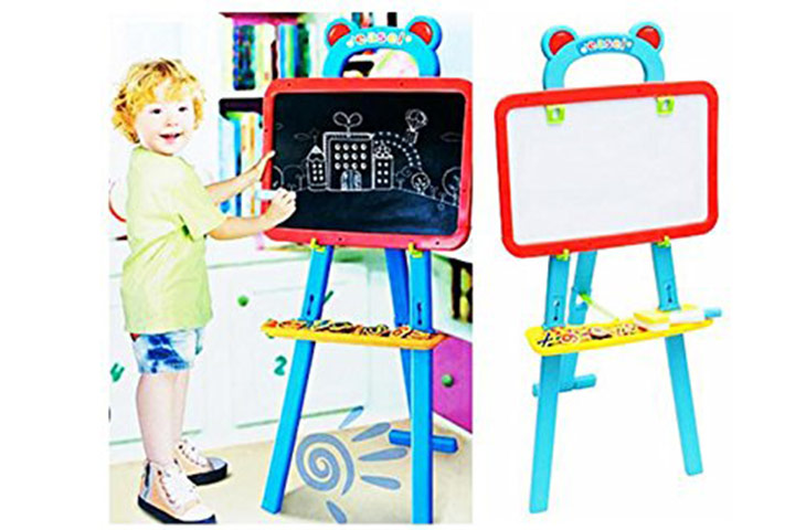 3-IN-1 magnetic board and easel