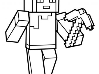 Minecraft Herobrine Coloring - Minecraft Herobrine Coloring Pages ... | 255x340