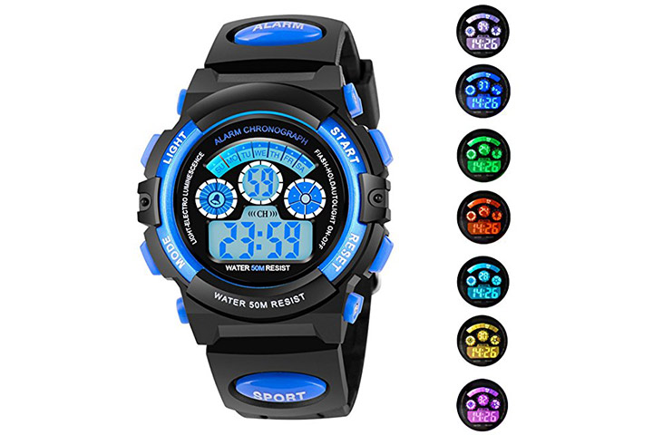 2 azland sports wristwatch for kids