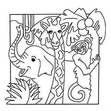 Nature Coloring Pages - African Plains