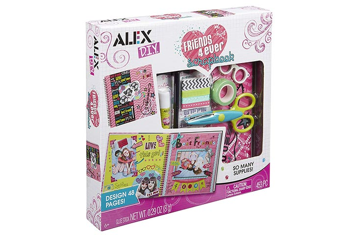 Alex DIY Friends 4 Ever Scrapbook Kids Art and Craft Activity