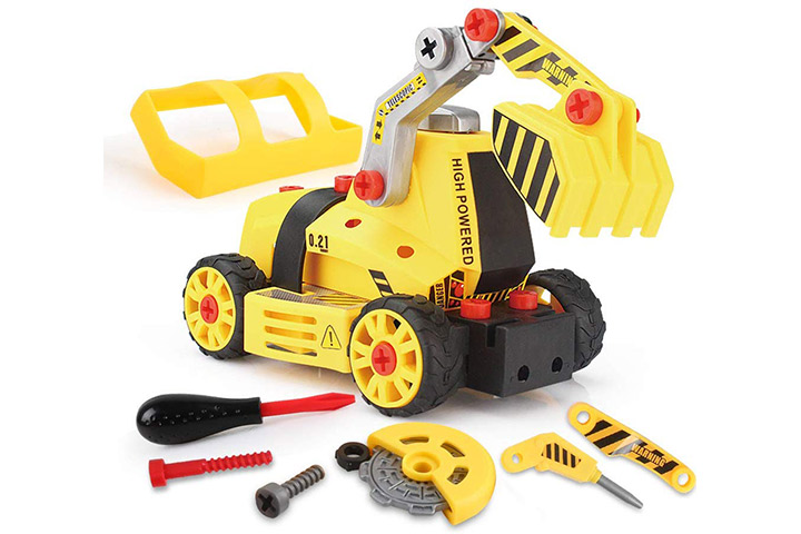 BeebeeRun 7-in-1 DIY Take Apart Truck Car Toys