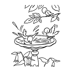 nature coloring pages birds - Printable Scenery Coloring Pages