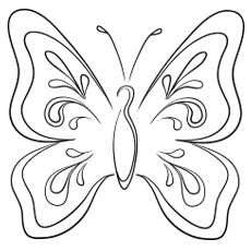 Nature Coloring Pages - Butterfly