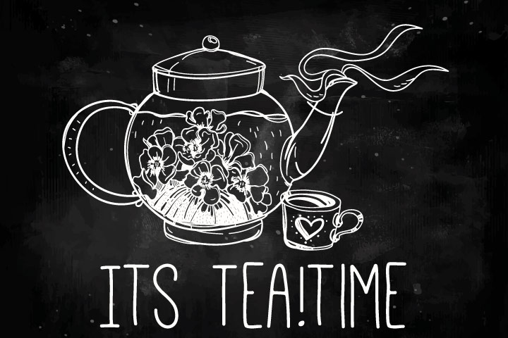 Tea Party Ideas For Kids - Chalkboard 'Welcome To Tea Party' Sign