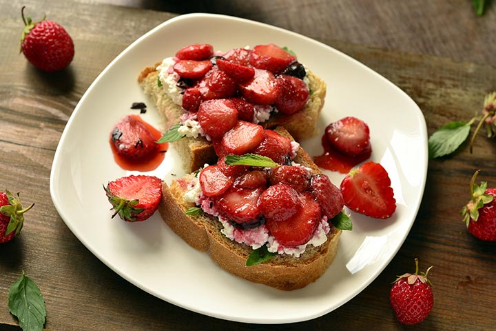Tea Party Ideas For Kids - Cheese And Strawberry Toast