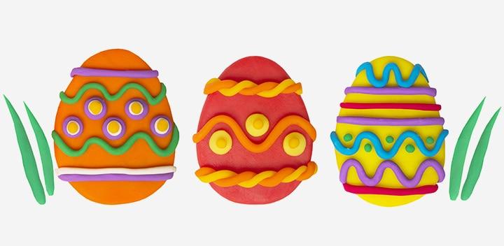 Easter Egg Crafts - Clay Easter Egg Craft