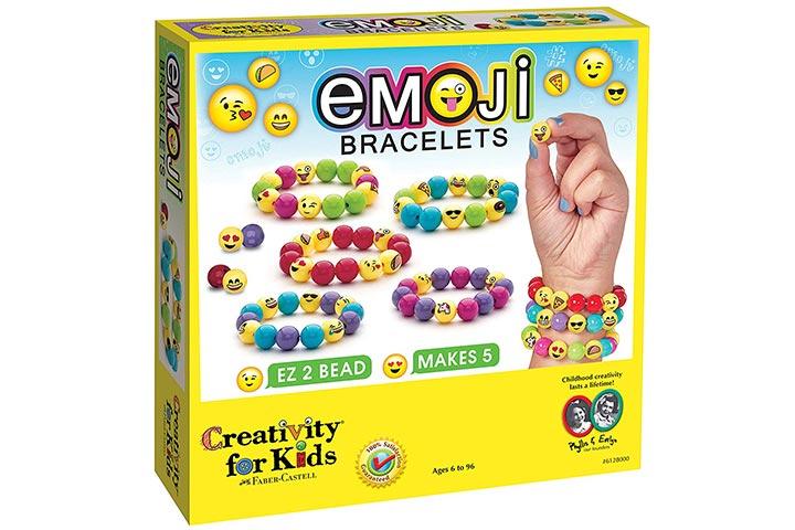 Creativity for Kids Holiday Emoji Bracelets